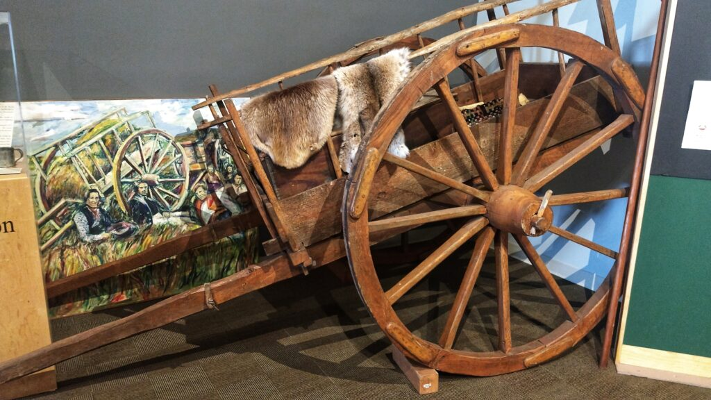 Red River oxcart display